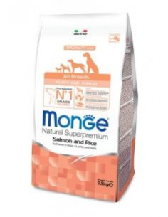 MONGE MINI ADULT SALM/RISO GR.800
