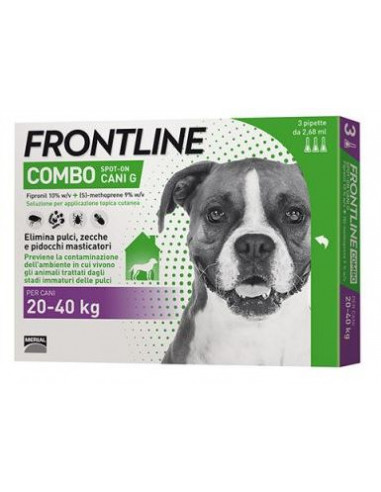 FRONTLINE COMBO KG.20-40 CANI - 3 PIPETTE
