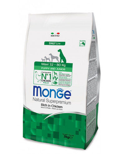 MONGE MAXI PUPPY JUNIOR KG.3 miglior prezzo