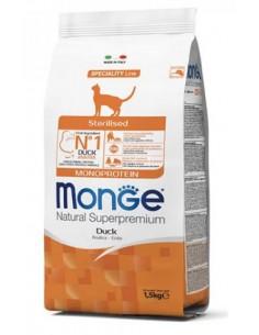 MONGE CAT MONOP. STERILIZED ANATRA KG.1,5 Miglior Prezzo