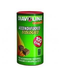 DIAVOLINA ACCENDIF. ECOLOGICA 100 CUBETTI miglior prezzo