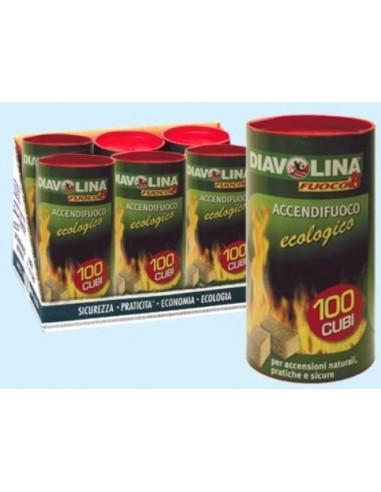 DIAVOLINA ACCENDIF. ECOLOGICA 100 CUBETTI