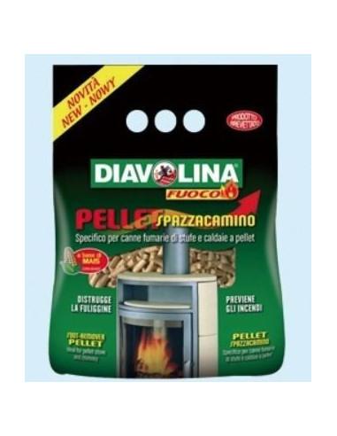 DIAVOLINA PELLET SPAZZACAMINO KG.1,5