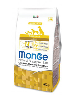 MONGE ALL BREE. ADULT POLLO/RISO/PAT KG.12 vendita online