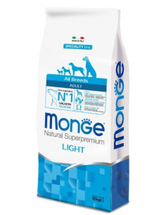 MONGE ALL BREE. LIGHT SALM/RISO KG.12 vendita online