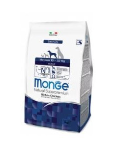 MONGE MEDIUM ADULT POLLO KG.3
